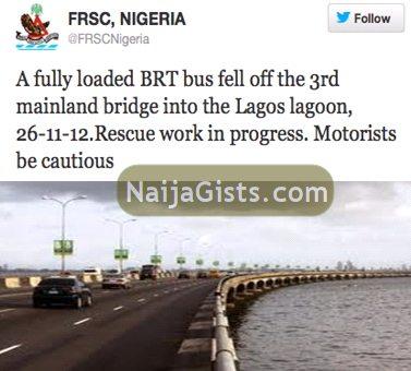 brt bus fell third mainland lagoon