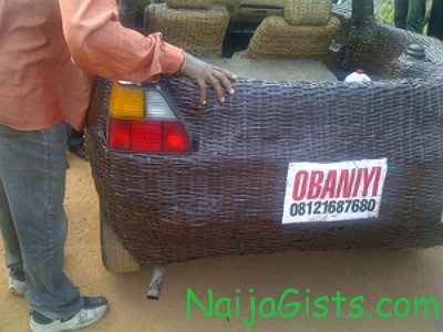 car made out of basket ibadan
