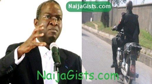 fashola arrest police riding okada