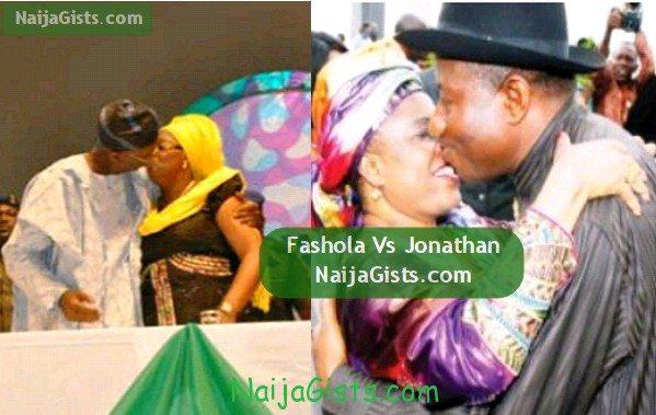 fashola kissing wife