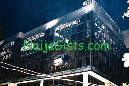 fire pmnews office lagos