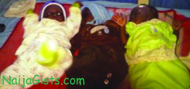 husband abandons wife nigeria triplets