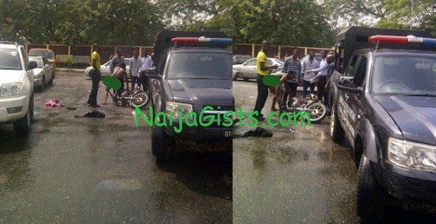 okada rider stripped naked in lagos police