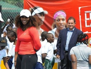 serena williams in lagos nigeria