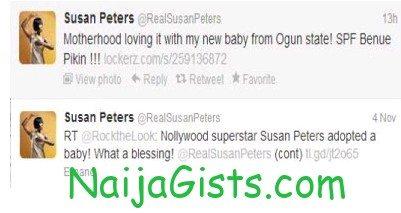 susan peters baby adoption