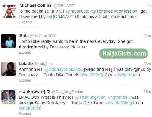 tonto dike and don jazzy tweets