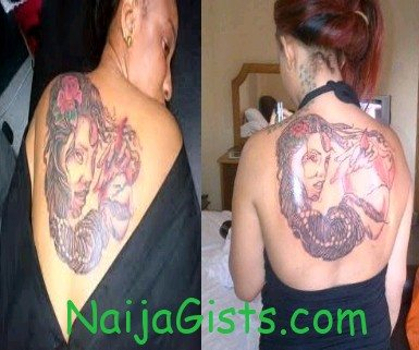 tonto dike witch back tattoo