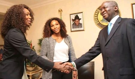 williams sisters visit fashola lagos