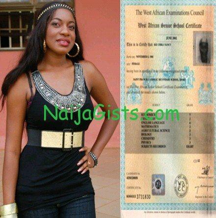 chika ike waec certificate