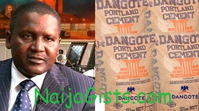 dangote cement factory closed down