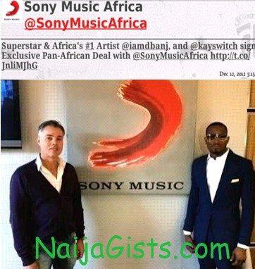 dbanj recording deal sony music
