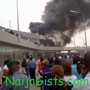 fire at lagos airport ikeja mmia
