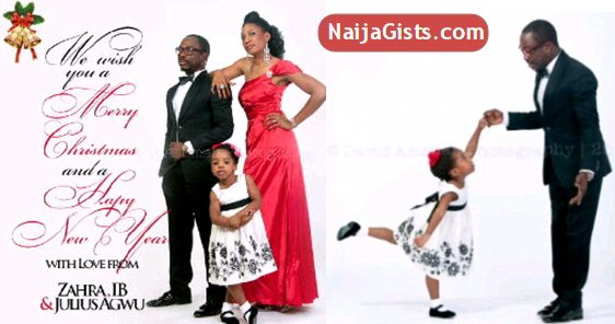 julius agwu family christmas card