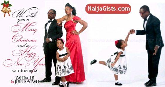 julius agwu family christmas card