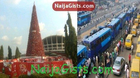 lagos free bus ride christmas new year