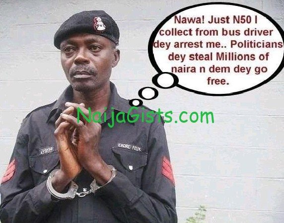nigerian policeman bribe