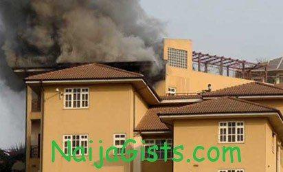 obasanjo house fire abeokuta