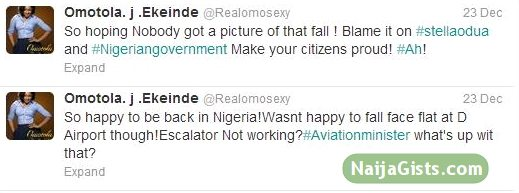 omotola jalade fell down picture