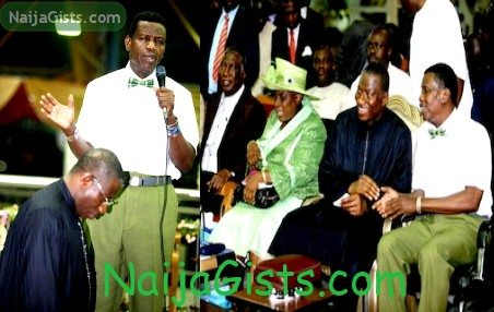 president jonathan pastor adeboye rccg holy night