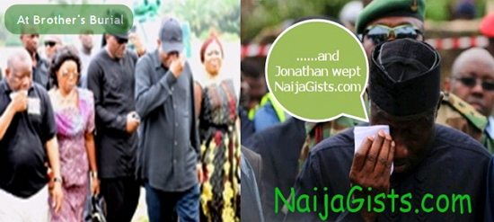 president jonathan weeping crying