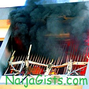 fire at inec abuja