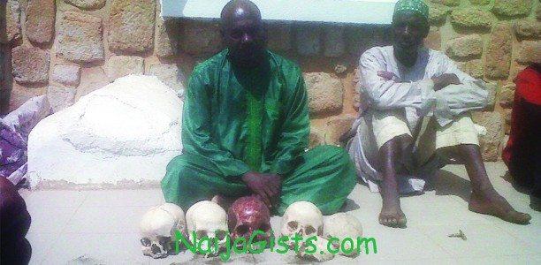 fulani man human skulls jos