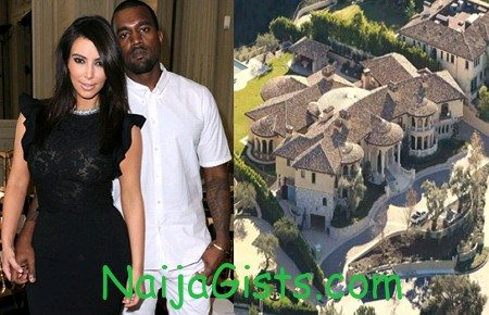 kanye west kim kardashian mansion photos