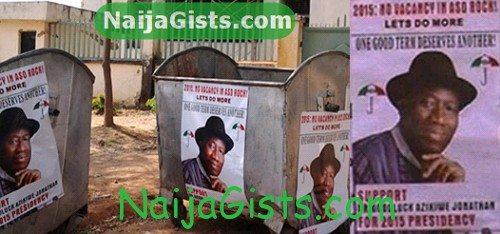 president jonathan election posters abuja