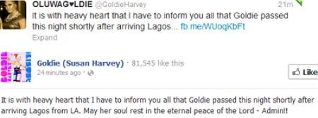 bba goldie dead