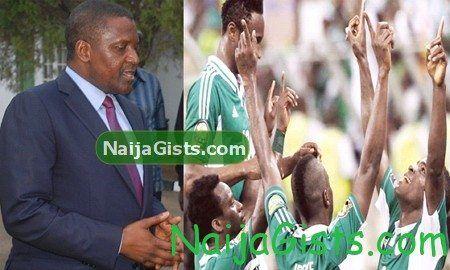 dangote super eagles 130 million naira