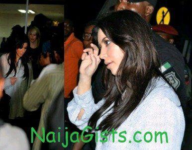 kim kardashian in lagos nigeria pictures