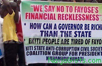 ekiti civil servants shun fayose party