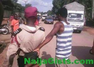 frsc officer arrested