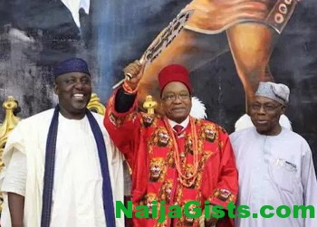 okorocha gives chieftaincy title zuma
