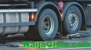 truck crushes bicycle rider to death lagos ibadan