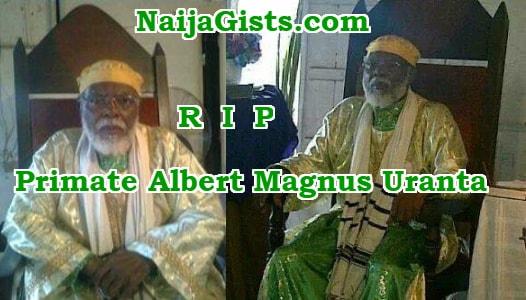 Primate Albert Magnus Uranta dead