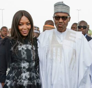 buhari invites naomi campbell to nigeria