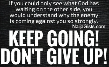 dont give up on God quotes sermons