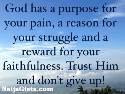 dont give up on God