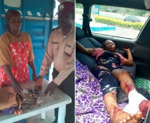 frsc returns accident victim money to mother