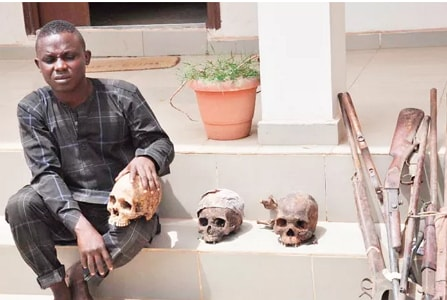lawma sweeper human skulls ilorin