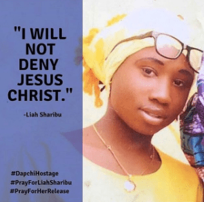 leah sharibu in the forest with christ
