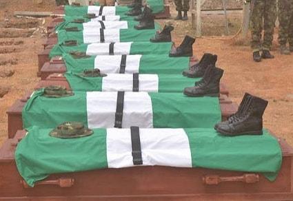 mass burial 11 nigerian soldiers killed kaduna