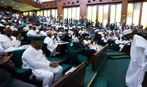 nigerian lawmakers protest pay raise