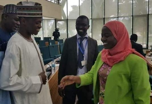 nigerian politician reject handshake
