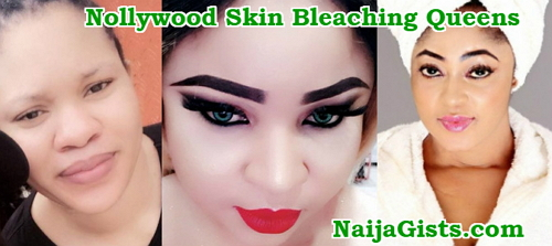 nollywood skin bleaching queens