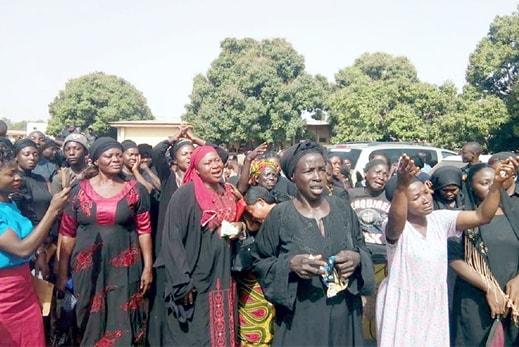 woman protesting fulani massacre