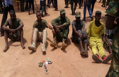 7 fake soldiers arrested lagos