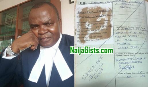 Emeka Ugwuonye license revoked