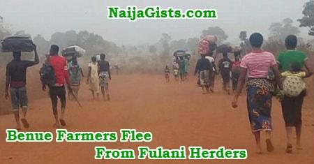 benue farmers flee fulani herdsmen